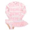 Pink Tie Dye Rashguard Set + Tutu