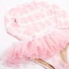 Detail of Pink Tie Dye Rashguard Set + Tutu