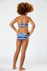 Two Piece Tie Back Bikini- Navy Tie Dye with Shell Detail