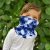 Detail of Kids Face Buff- Navy Tie Dye