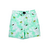 Toddler Boys - Mint Tie Dye with Embroidered Snorkels & Jet Skis - 4 Way Stretch Swim Trunks