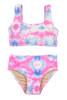 Two Piece Sport Bikini- Cotton Candy Tie Dye