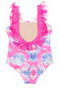 Detail of One Piece Fringe Back- Cotton Candy Tie Dye