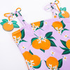 Detail of One Piece Belted Tank Suit- Lilac w/ Orange Details