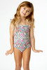 Detail of Smocked One Piece Suit- Ditsy Floral