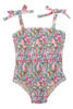 Smocked One Piece Suit- Ditsy Floral