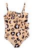 Leopard Ruffle 1PC Swimsuit
