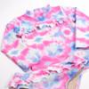 Alt pic of Rashguard Set - Cotton Candy Tie Dye