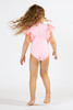 picture of SG01C-174 -tulle sleeve 1pc - pink flamingo