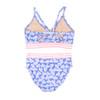 picture of ST06C-171 -tie back bikini w. webbing - blue daisy