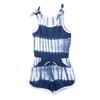 Cotton Terry Tie Dye Romper - Navy