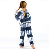 Shade Critters Terry Jogger Pant- Navy Tie Dye back