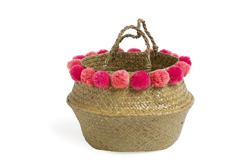 Pom Pom Beach Tote - Pink by Shade Critters
