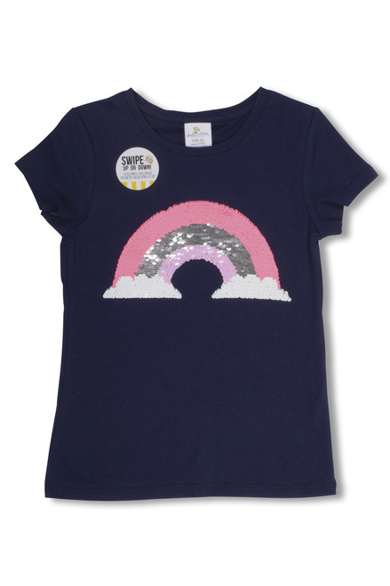 Magic Two-Way Sequins T-shirt - Rainbow  by Shade Critters