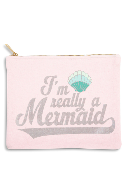 Travel Pouch - I'm Really A Mermaid by Shade Critters