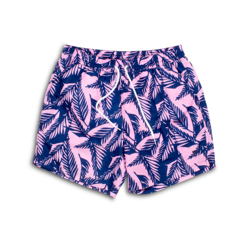 Men's Navy/Pink Palm Reader Swim Shorts  by Shade Critters UPF50+