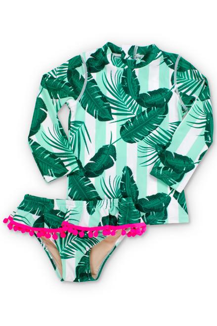 Mint Cabana Botanical Rashguard Set  by Shade Critters UPF50