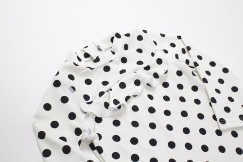 Black/White Polka Dot Rashguard Set  by Shade Critters UPF50 Alt Image