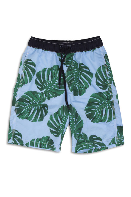 Blue Botanical Swim Shorts Youth