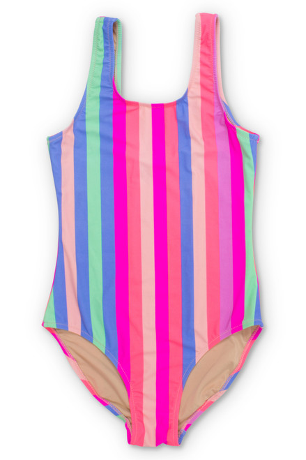 818324c78e Chasing Rainbows Stripe Scoop Swimsuit