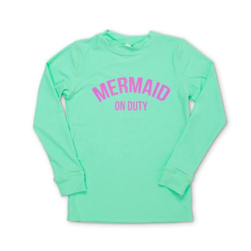 Mermaid on Duty - Mint Rashguard