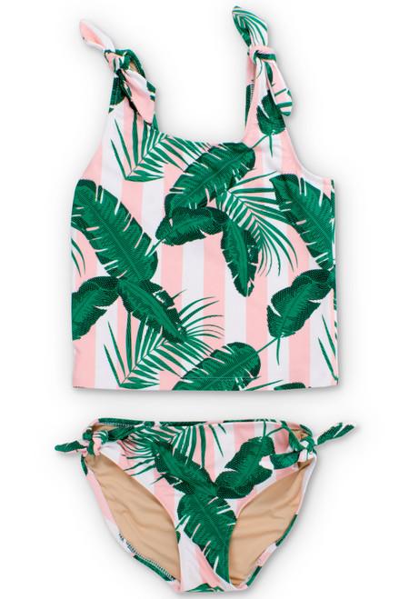 Pink Cabana Botanical Tankini Set  by Shade Critters UPF50