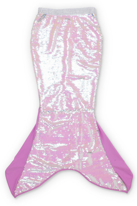 Purple/Silver Flippable Sequins Mermaid Tail  by Shade Critters UPF50