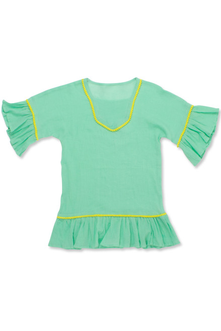 gauze coverup-mint