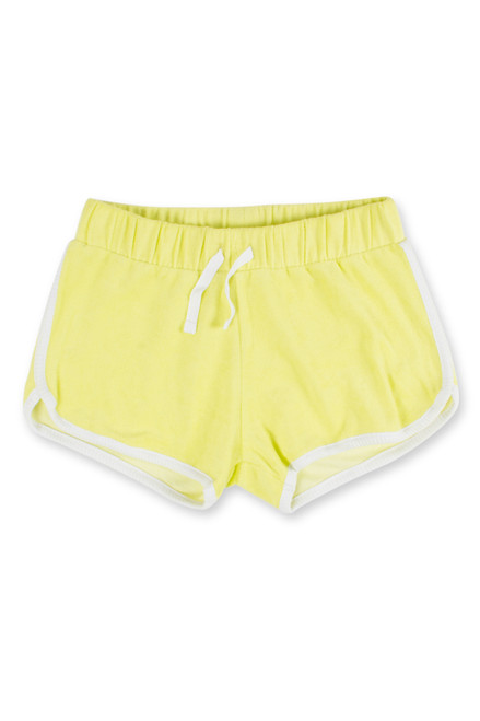 terry shorts-citron