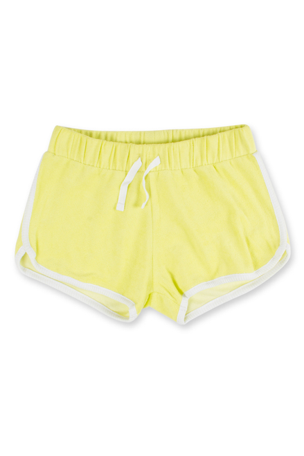 terry shorts-citron