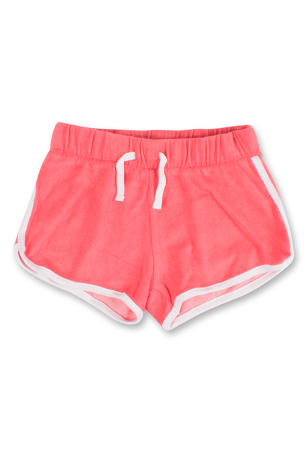 terry shorts-coral