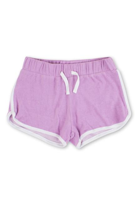 terry shorts-purple
