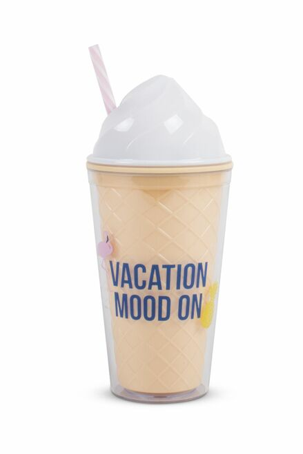 Vacation Mood On Ice Cream Shaped Tumbler