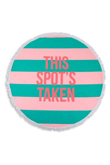 This Spot's Taken Round Striped Beach Towel