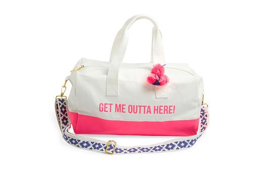 Get Me Outta Here! Canvas Duffel Bag