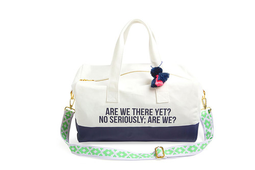 Are We There Yet? Cotton Canvas Duffel Bag