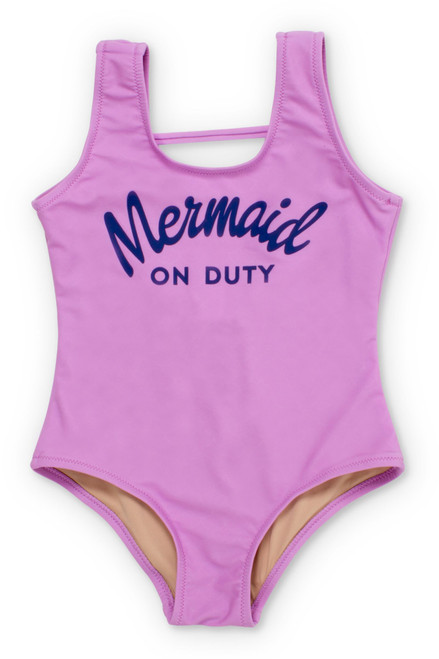Lilac Mermaid on Duty Scoop One Piece (Scales Appear When Wet!)