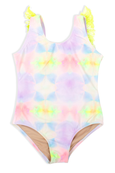 One Piece Fringe Back-Multi Tie Dye