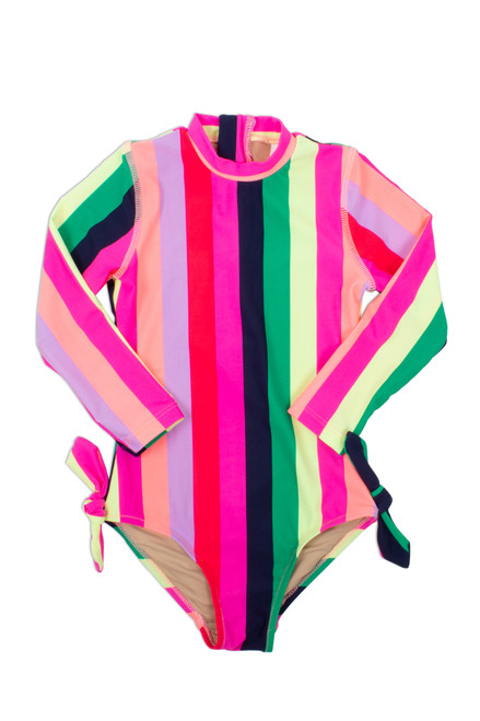 Longsleeve One Piece - Multi Stripe