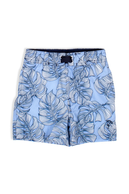Swim Trunks - Blue Monstera
