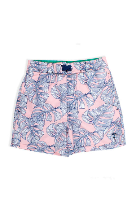 Swim Trunks - Pink Monstera