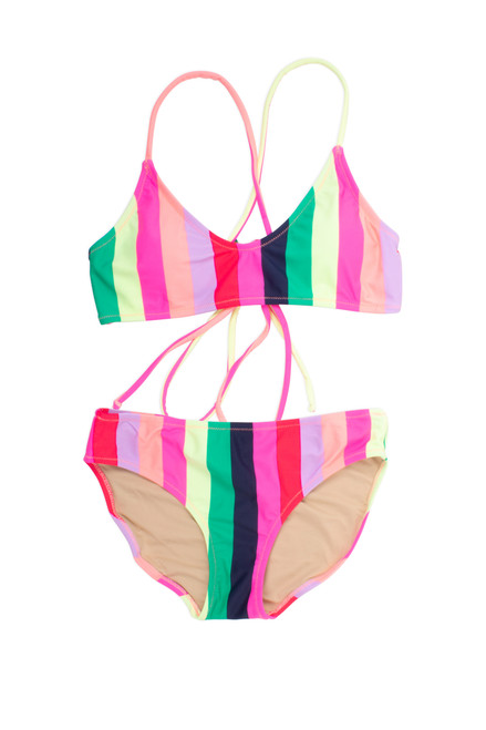 Tie Back Bikini - Multi Stripe