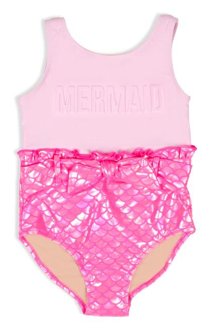 Image of Pink Mermaid Swimsuit.