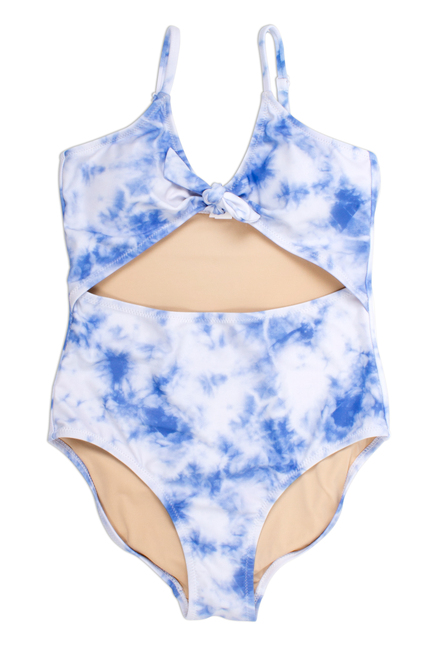 One Piece cutout - blue tie dye