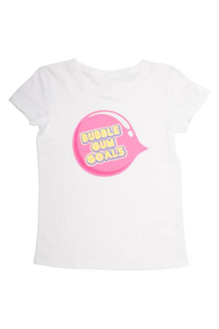 Cotton scented tee shirt  - bubble gum goals white