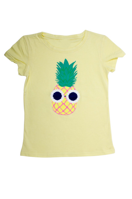 Cotton scented tee - pineapple in yellow