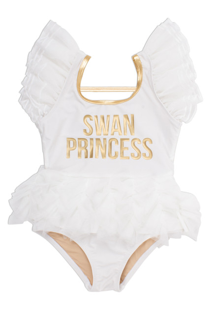 One Piece w/ Tulle Sleeves & Skirt - Swan Princess