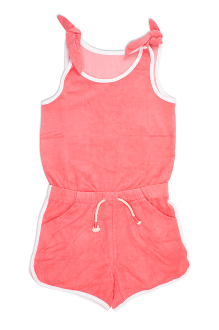 Terry Romper - Coral