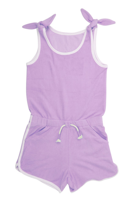 Terry Romper - Purple