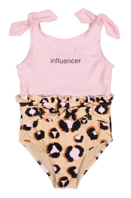 """Leopard """"Influencer"""" 1PC Ruffle Waist Swimsuit"""